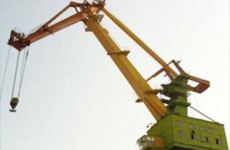 Repair of 80 ton Flamingo portal jib crane boom mechanism.