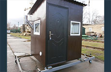 Mobile module (metal) «Lodge» for accommodation of protection or staff