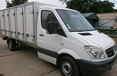 New modified arrangement of 5-door insulated Bakery Delivery Van based on Mercedes Sprinter 313 light truck frame