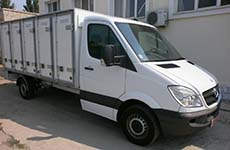 insulated Bakery Delivery Van with holding capacity of 120 bakery cases based on Mercedes Sprinter 313 light truck frame