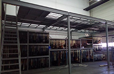 Add-2nd floor for installation of the racks