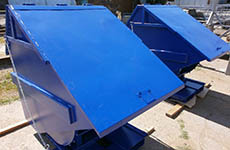 Containers for waste, self tipping with cover