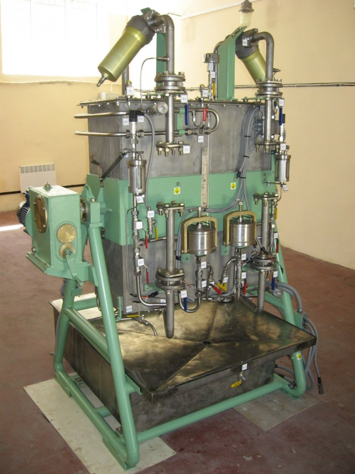 Computerized stand testing unit for electrical centrifugal pumps
