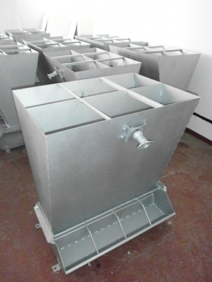 Controlled Pig Feed Trough, with two-sided.