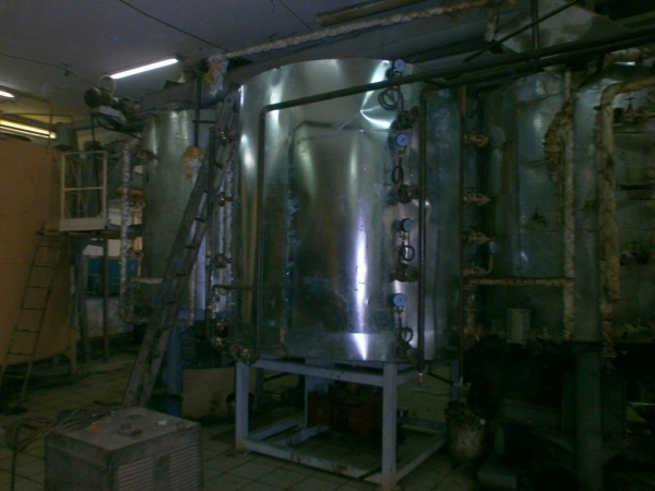 Four-pan oilseed roaster with capacity of 40 tpd