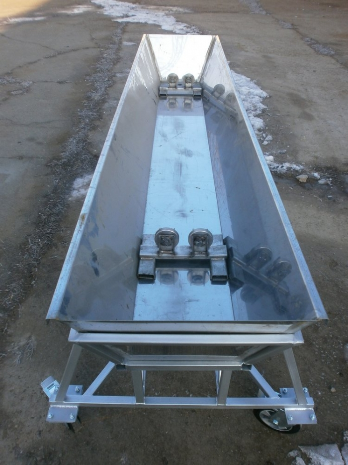 Drum washing trough, stainless steel